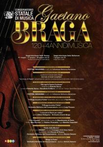 """Manifesto eventi """"120+4 Anni di Musica"""""""
